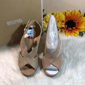 Michael Kors Beck Platform Slingback Sandals 9